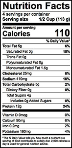 Small Curd Cottage Cheese Nutrition Label | Borden Dairy