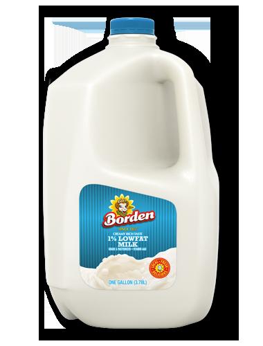 1 Percent Low Fat Milk Borden Dairy