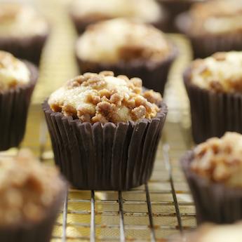 Peanut Crumble Cupcakes