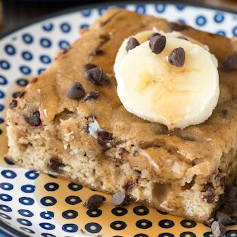 Elsie's Baked Banana Chocolate Pancakes