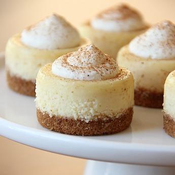 Elsie's Homemade Mini Eggnog Cheesecakes