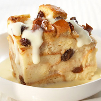 Elsie's Homemade Eggnog Bread Pudding