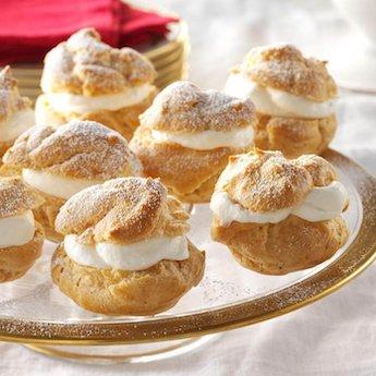 Elsie's Homemade Eggnog Cream Puffs