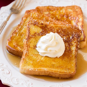 Elsie's Homemade Eggnog French Toast