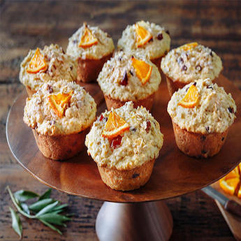 Rise and Shine Orange & Oatmeal Muffins