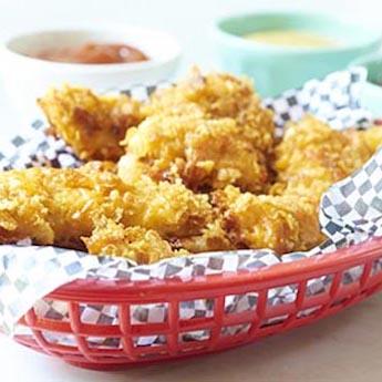 #HealthyWithElsie Cheesy Chicken Crunchers